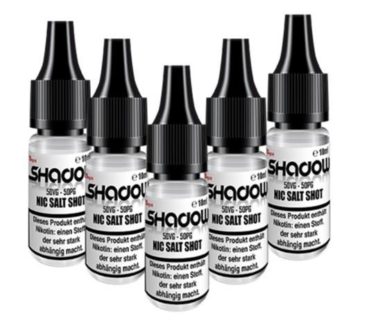 5 X Nikotin Salz Shot 30PG / 70VG 10ml 20mg